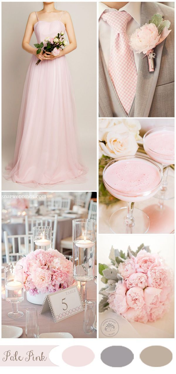 Pale Pink Spring Wedding Color Ideas And Bridesmaid Dresses