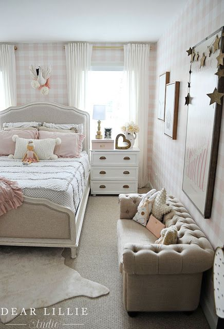 Dear Lillie Lillie S Room With A New Chandelier Small Girls Bedrooms Small Room Bedroom Cute Bedroom Ideas Lillie room with new chandelier