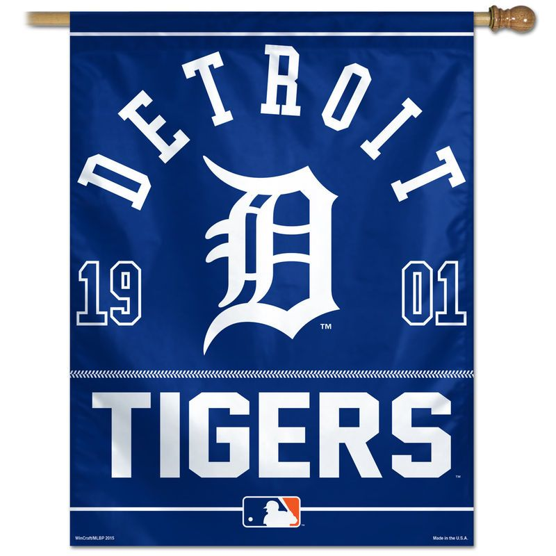 Detroit Tigers 27 X 37 Vertical Banner Flag Navy Blue
