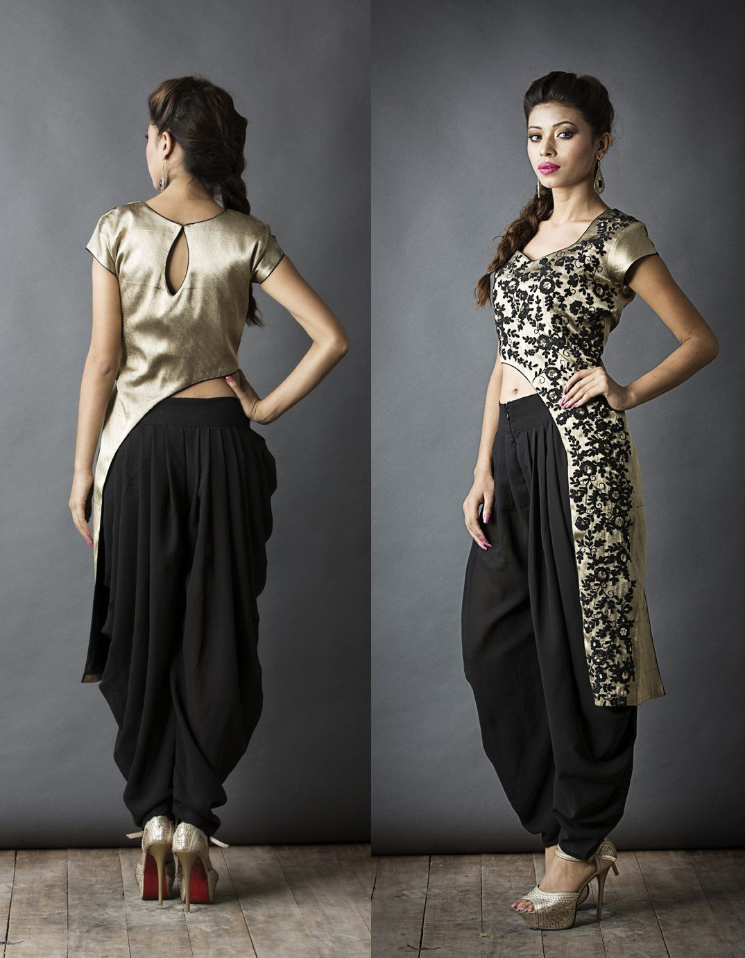 ee4a50c7ff Sa'irah By Roopsi Suri Waist cut with dhoti pants | Things to Wear ...