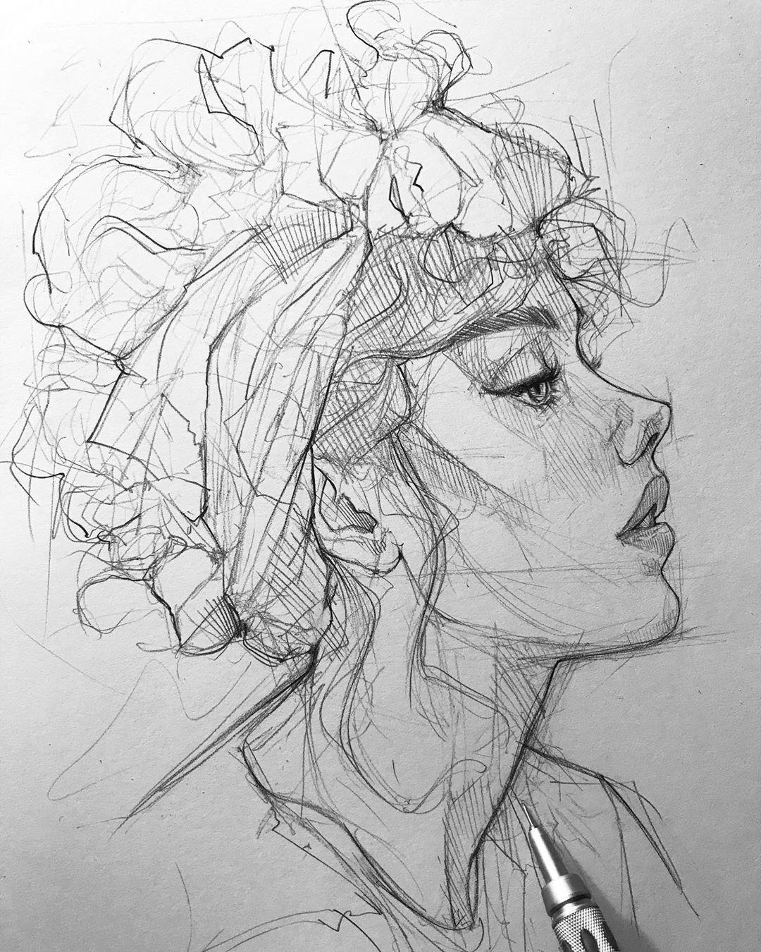 Pencil Sketch artist Efraín Malo –   – #Artist #efrain #FineArt #Malo #OilPaint…