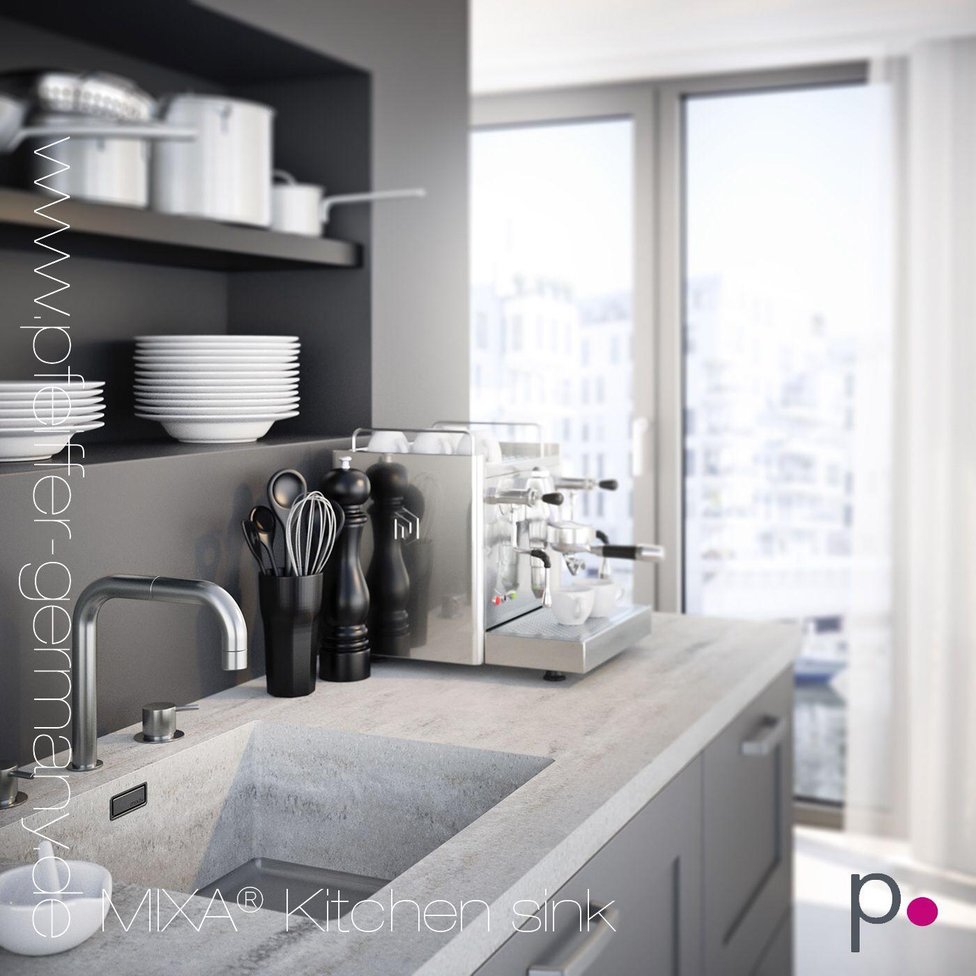 Feel Free For Shapes Sizes And Colours Of Solid Surface Material Design Your Kitchen Worktop With A Mixa Kitchen Sink Mit Bildern Waschbecken Kuche Entwerfen Kuchenspule