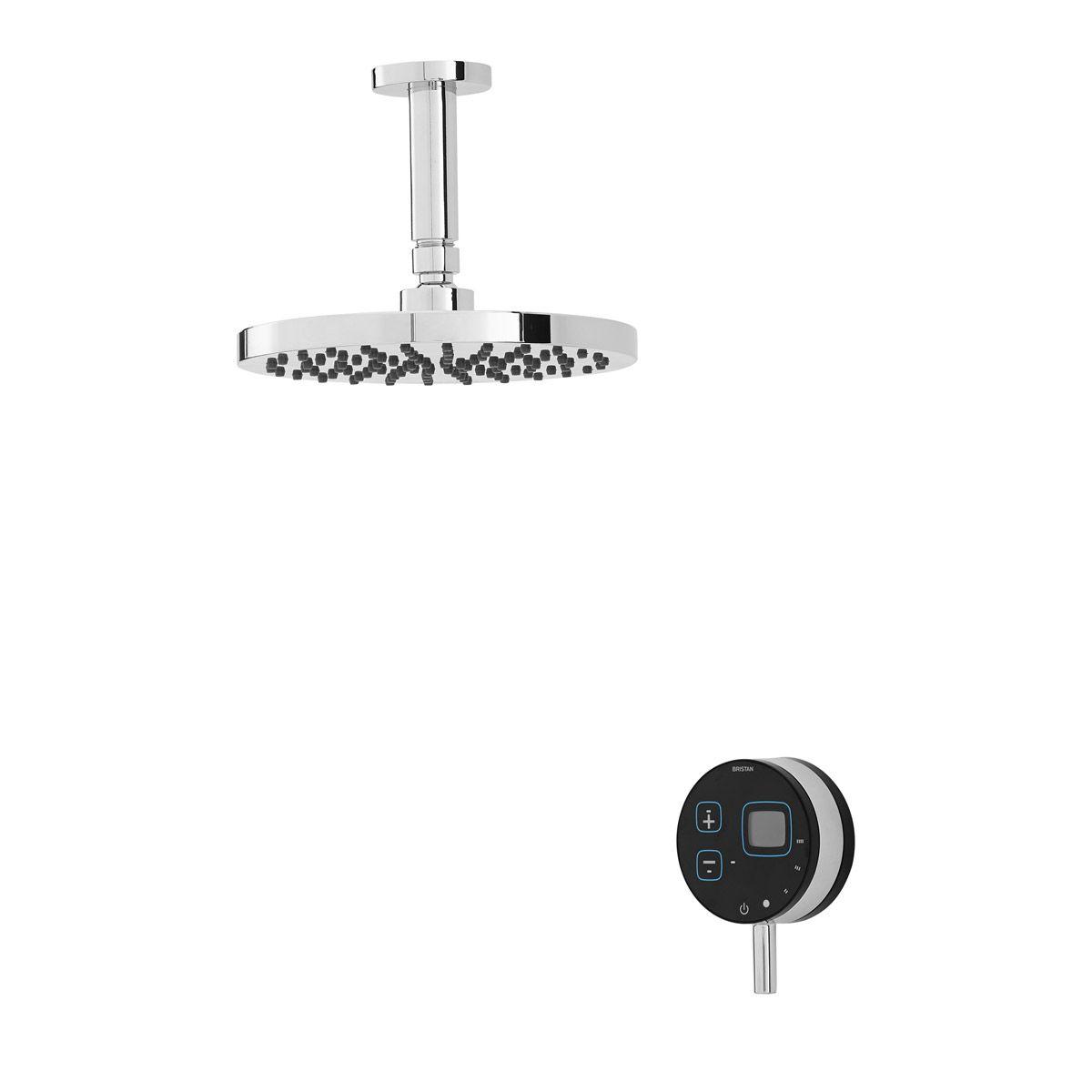Bristan artisan evo digital shower with fixed head black