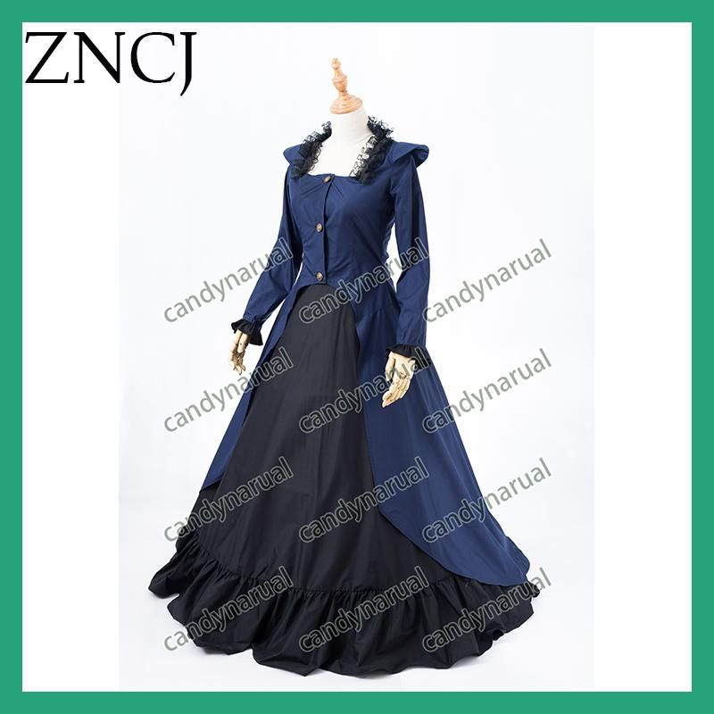 ZNCJ Fashion Gothic Maid Cosplay Costume Anime Halloween Party Ball ...