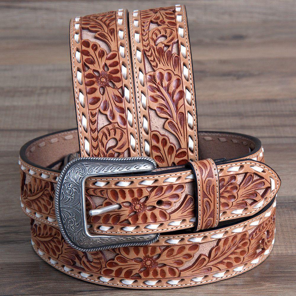 3D 1 1//2 Natural Mens Western Fashion Belt