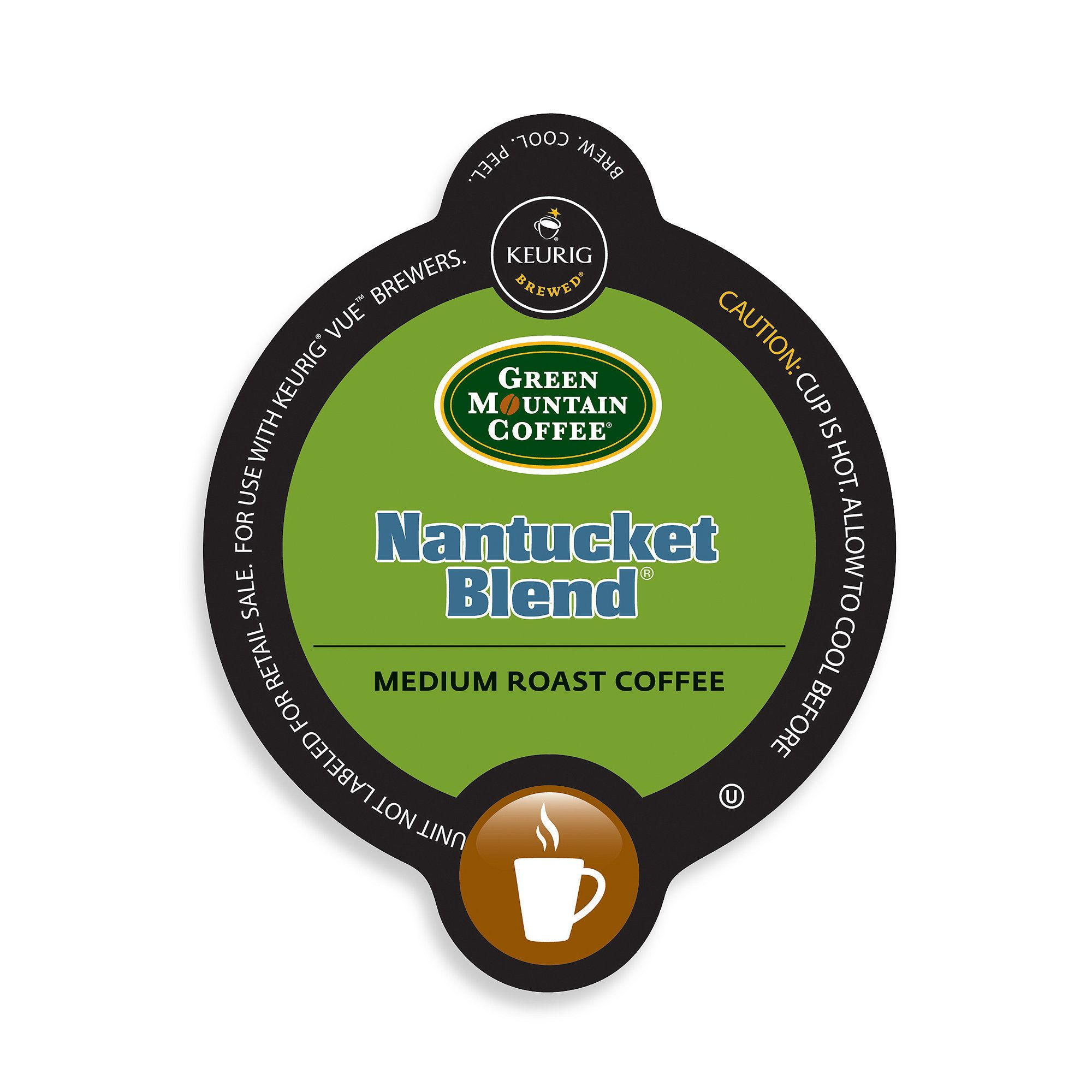 Green Mountain Coffee Nantucket Blend, Vue Cup Portion