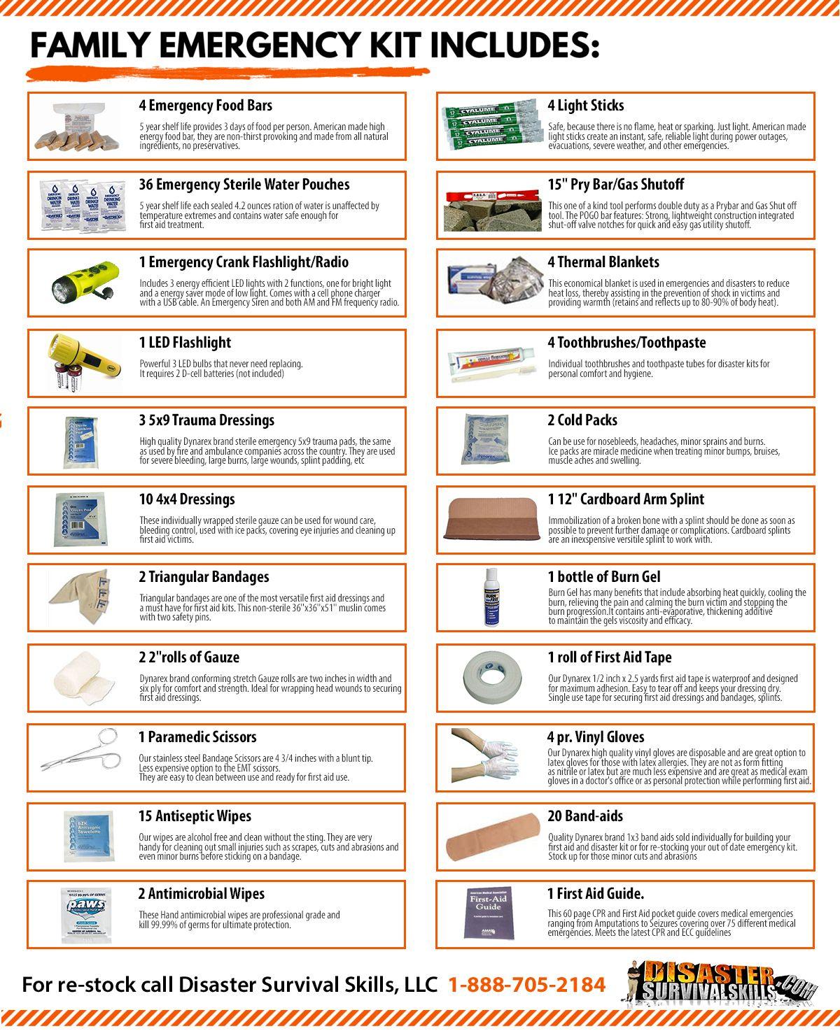 Family disaster survival kit disaster kits emergency