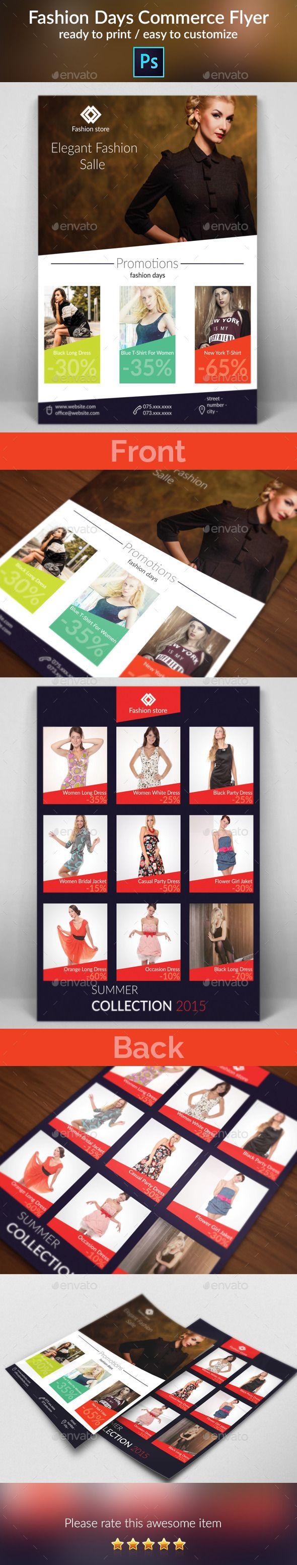 Fashion Days Commerce Flyer — Photoshop PSD #fashion flyer #women flyer • Available here → https://graphicriver.net/item/fashion-days-commerce-flyer/9518930?ref=pxcr