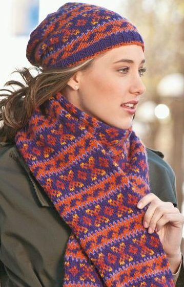 Knitting Pattern For Stockholm Hat And Scarf Set The Patterns For