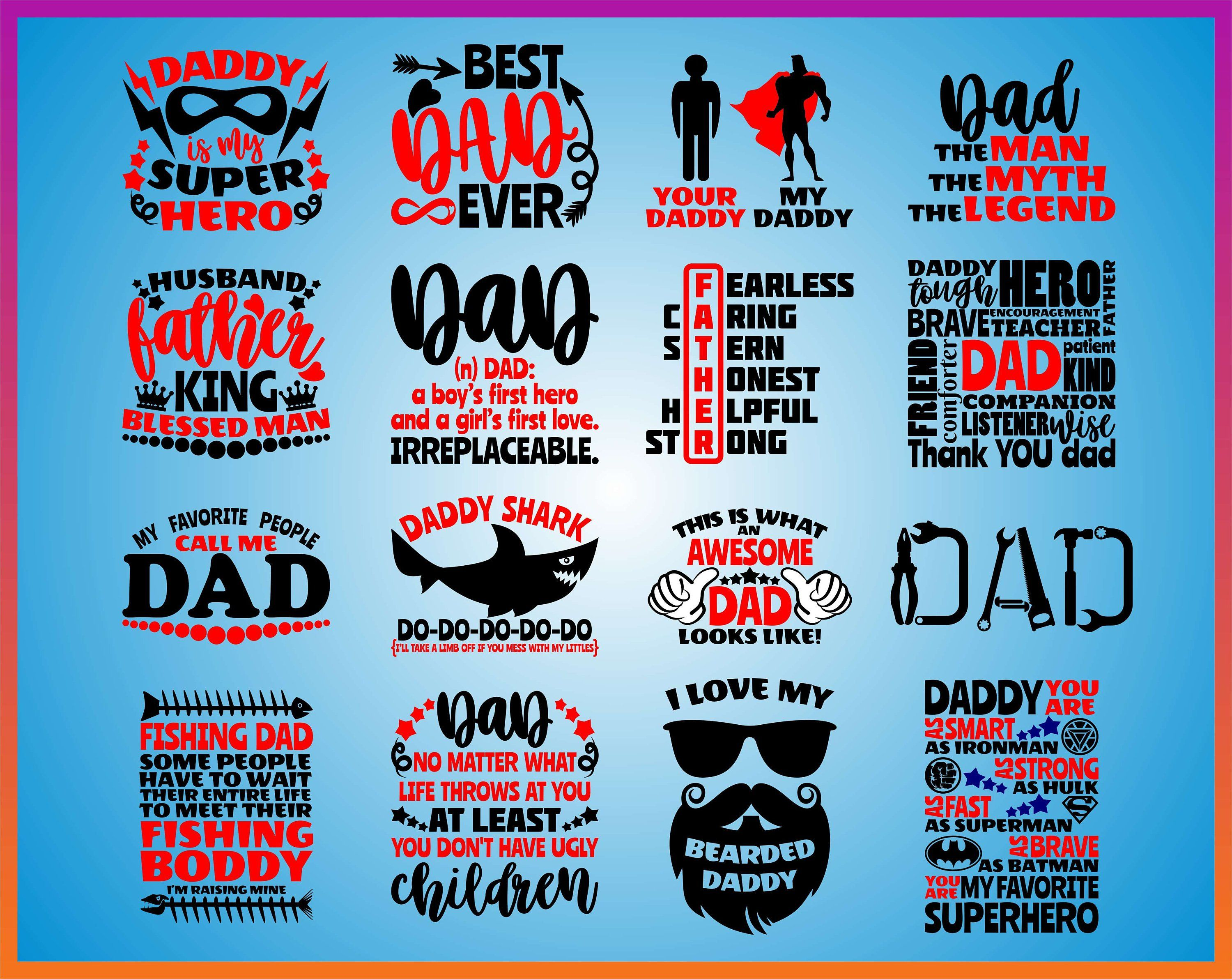 b0cadd49f Father's day Quote SVG Cut File Bundle Funny Father svg of boy girl kid  Cricut Cameo