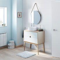 Mueble Baño Kompas Roble 80 X 45 Cm Leroy Merlin Muebles De Baño Muebles De Lavabo Muebles