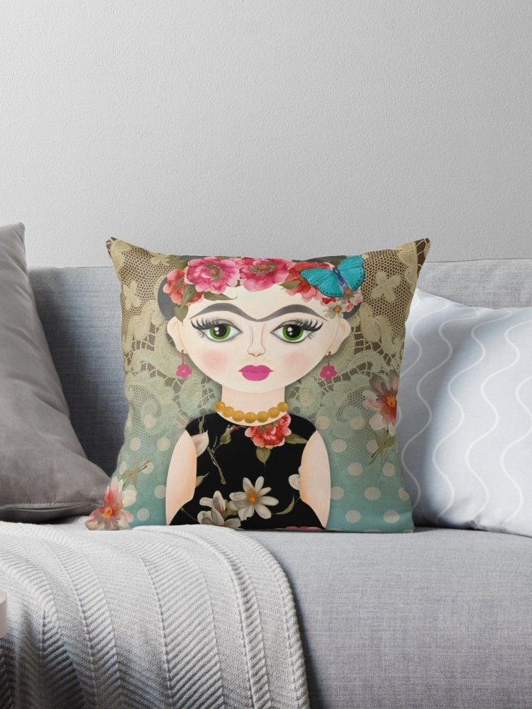 'LINDA - SPANISH DOLL - POUPEE ESPAGNOLE - MEXICAINE' Coussin by LEAROCHE #spanishdolls « LINDA - SPANISH DOLL - POUPEE ESPAGNOLE - MEXICAINE » par LEAROCHE #spanishdolls