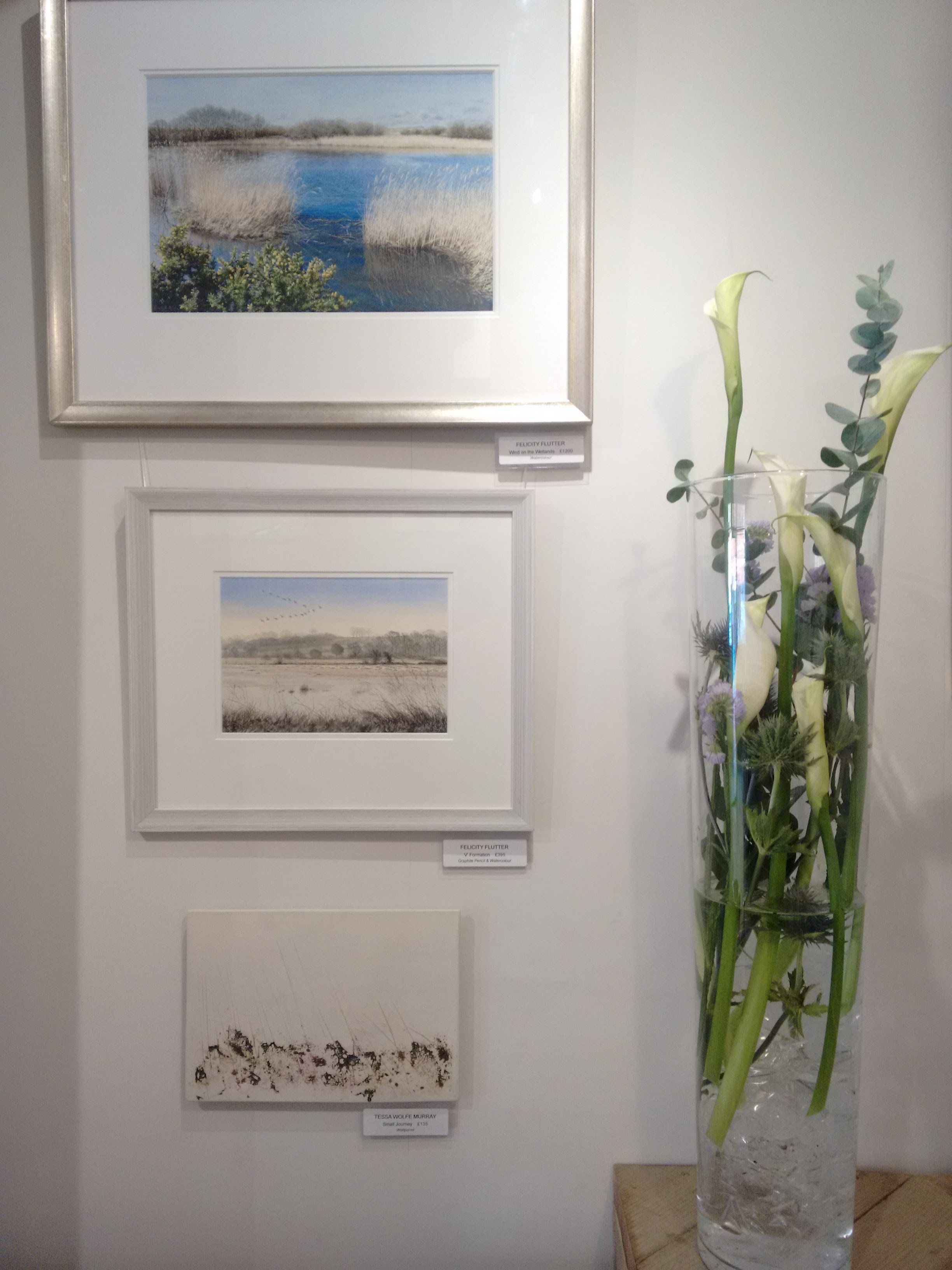 Even the florist is inspired by #TheMarshes The Art Bunch #Ticehurst with Felicity Flutter BA & Tessa Wolfe Murray