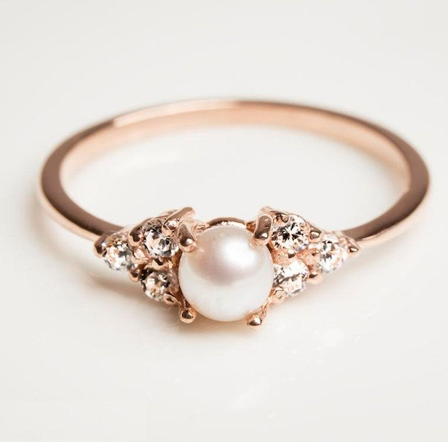 diamond around ring it vintage best pearl with engagement diamonds on pinterest ideas rings