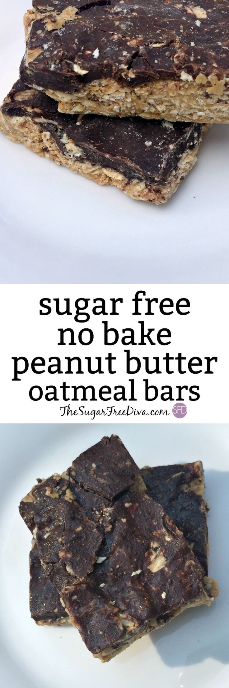 Finally! A recipe for a sugar free no bake peanut butter oatmeal bar. This yummy treat is easy to make and is a great snack or healthy dessert idea too. Kids and adults like this and the video too!!
