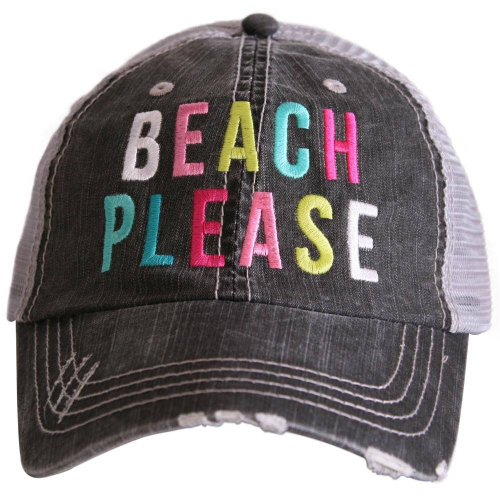 7875d9ce2883a FREE SHIPPING Color Grey Beach please multicolored trucker hats. Bachelorette  party