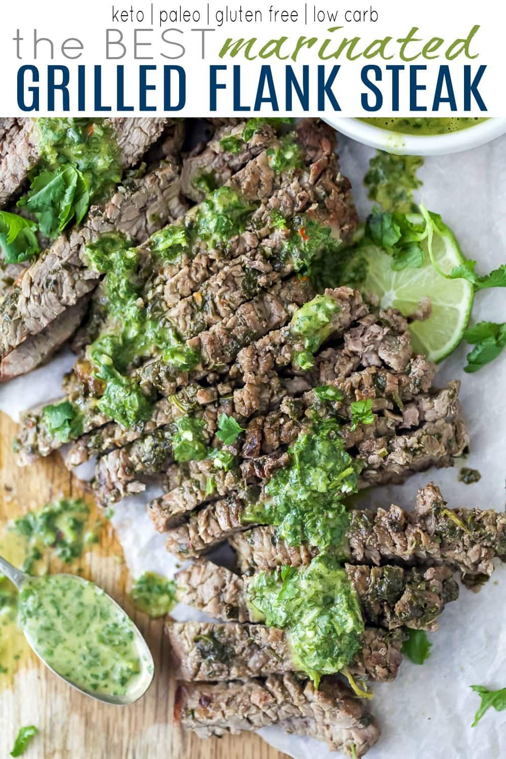 The Best Marinated Grilled Flank Steak | Recipe | Flank ...