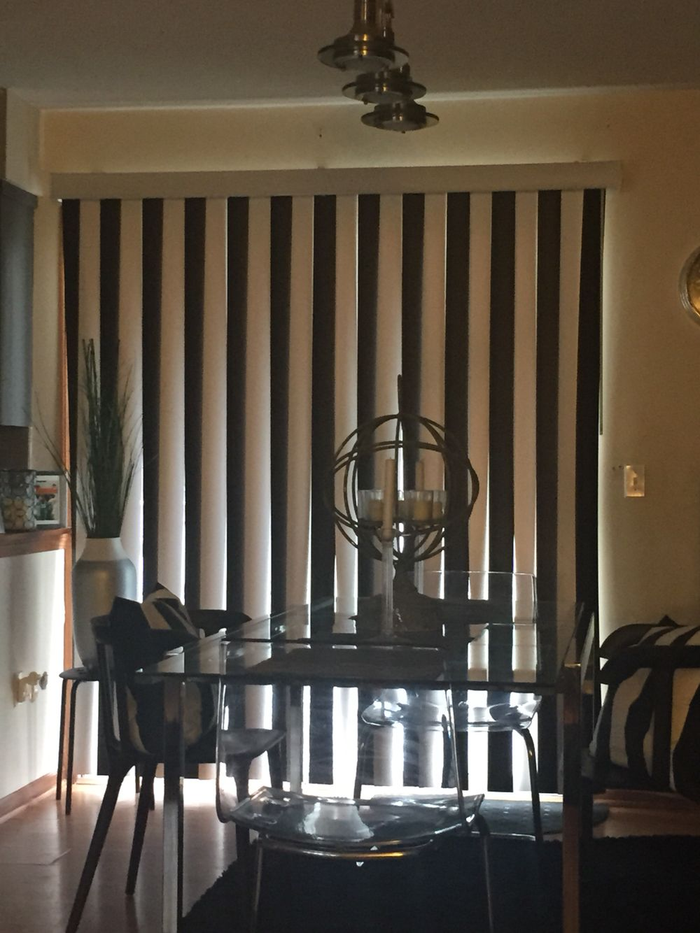 Fun way to change up your vertical blinds make them