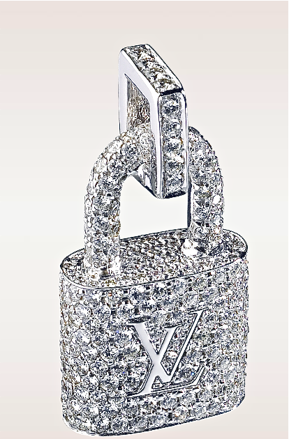 ac9b1dc3f999c Louis Vuitton. Padlock Pendant in White Gold with Diamonds
