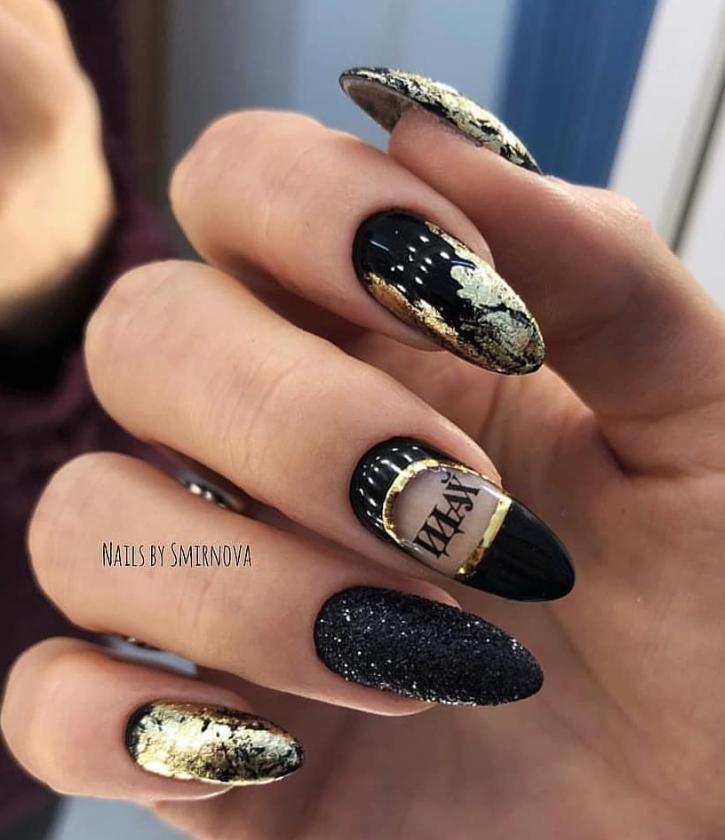 80 Matte Black Nail Art Design Trend In Cool 2019 Cute Acrylic Nail Designs Matte Black Nails Trendy Nails