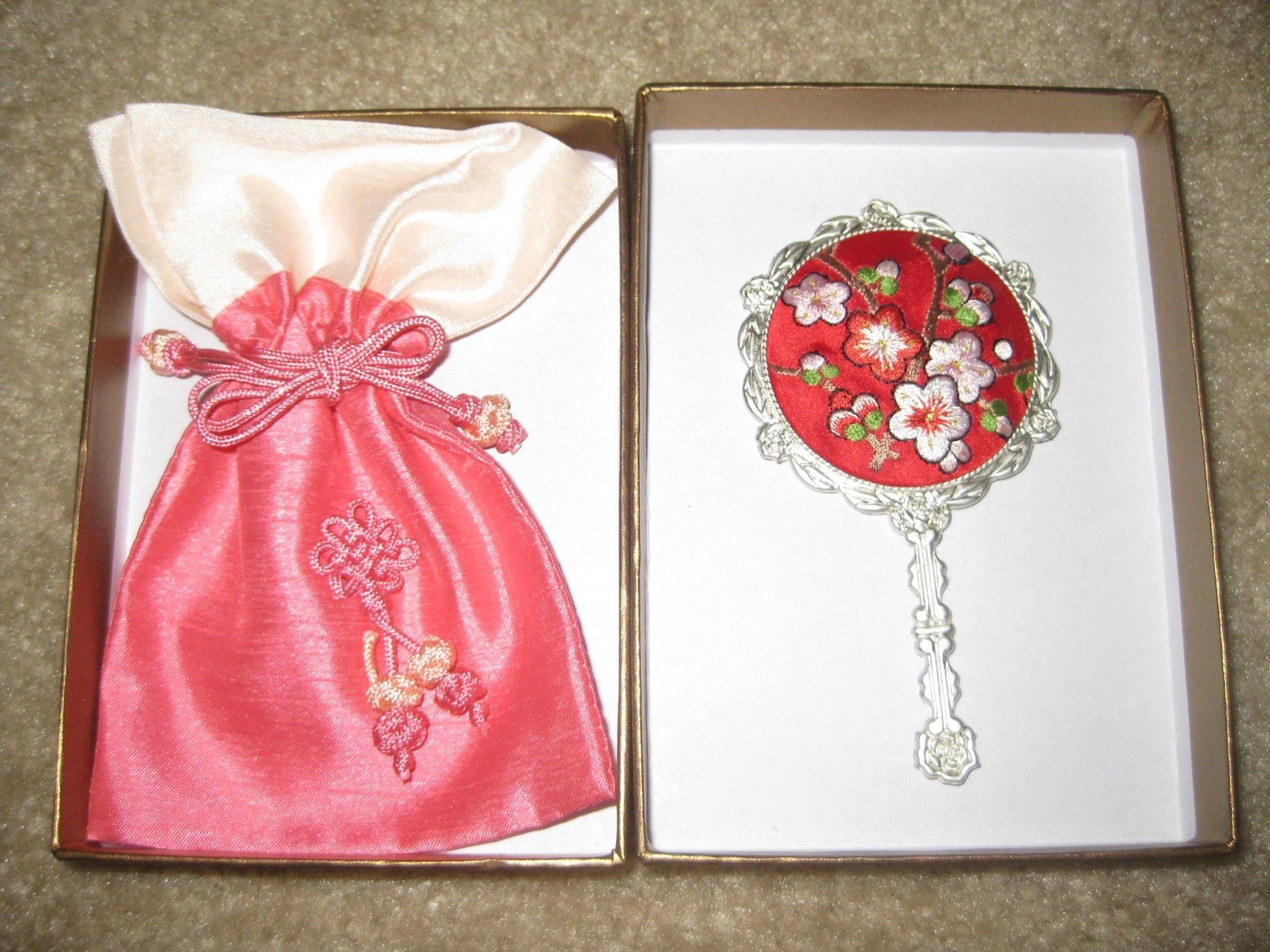 A Korean mirror and bag, a prize I received from the Korea Tourism ...