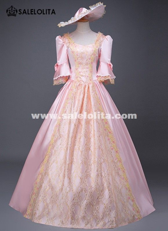 Edwardian Era Historical Wedding Princess Gowns Southern Belle Prom Dress Victorian Marie Antoinette Ball Gown Pink Dress #dressesfromthesouthernbelleera #dressesfromthesouthernbelleera