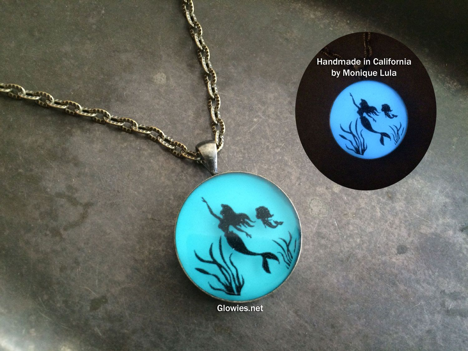 gift listing dragon il drop the graduation glowing class fullxfull tear mermaid year egg birthday necklace of glow in dark