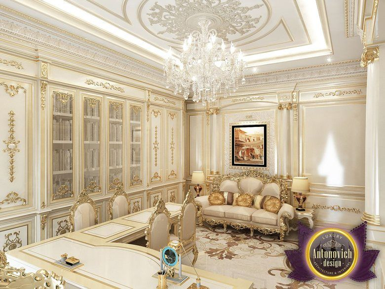 Luxury office design of luxury antonovich design katrina antonovich home office myo Grand home furniture dubai