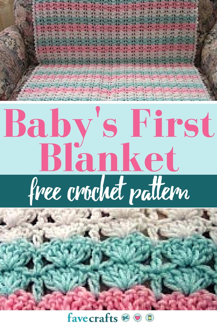 Baby\'s First Crochet Blanket Pattern | Crochet baby blankets ...