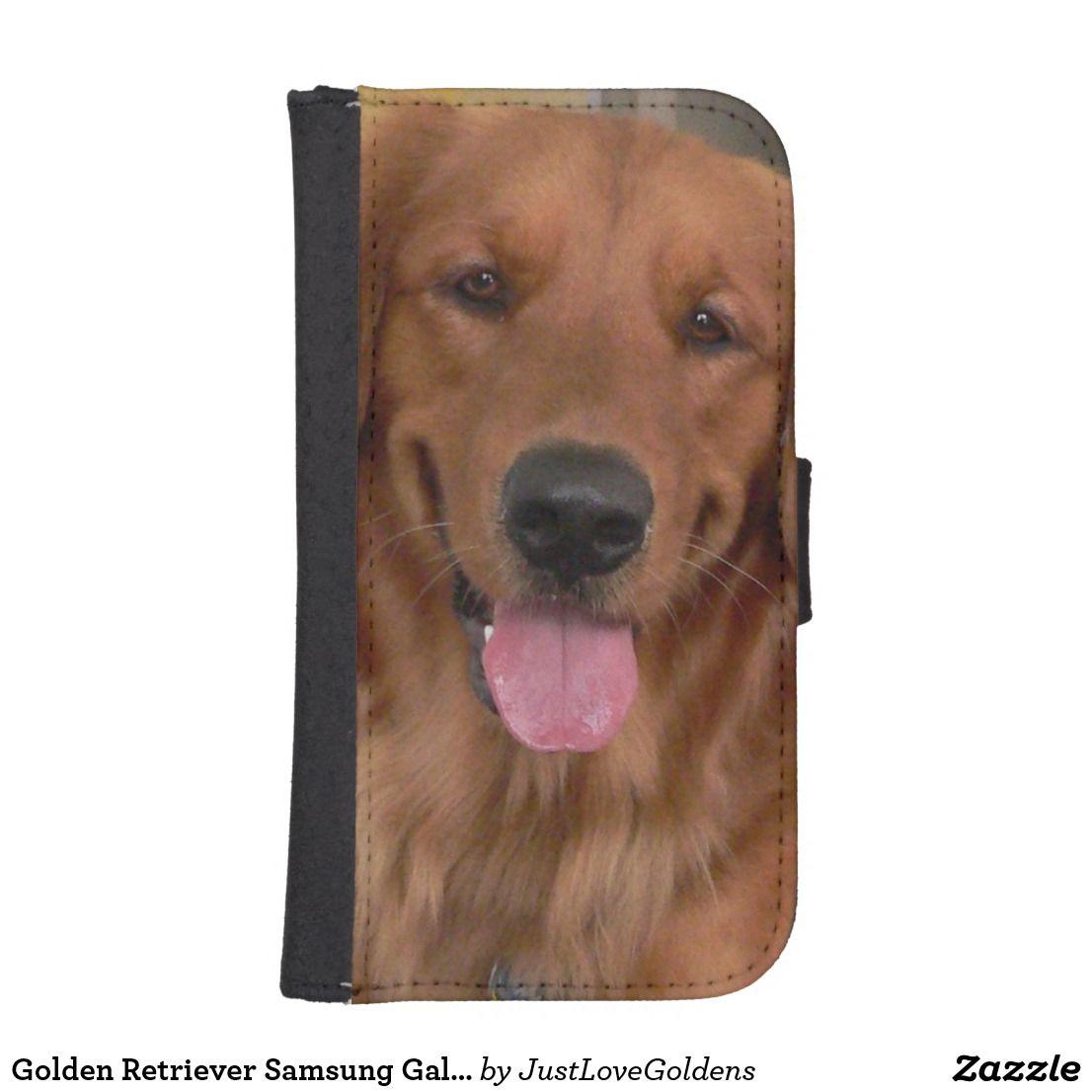 Golden retriever samsung galaxy phone wallet case zazzle