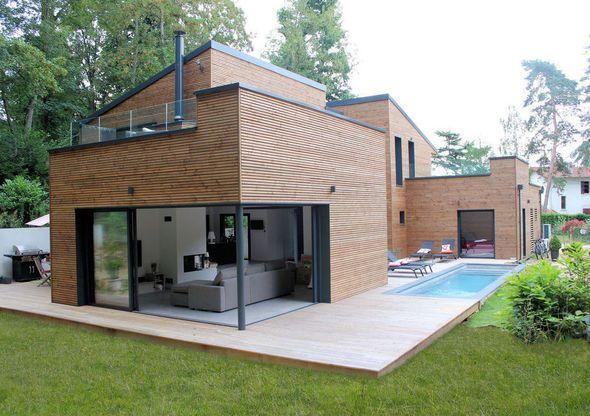 Une maison chaleureuse et écologique - dalle beton interieur maison