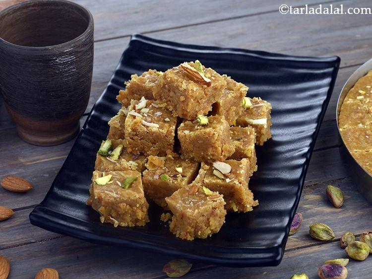 Mohanthal Recipe Traditional Gujarati Mohanthal Rajasthani Mohanthal Recipe Mohanthal Recipe Recipes Clarified Butter Ghee