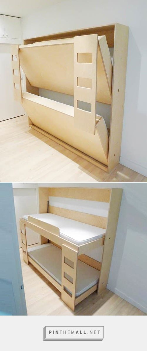 Double Murphy Bunk Bed for Kids | Handmade Charlotte - created via…