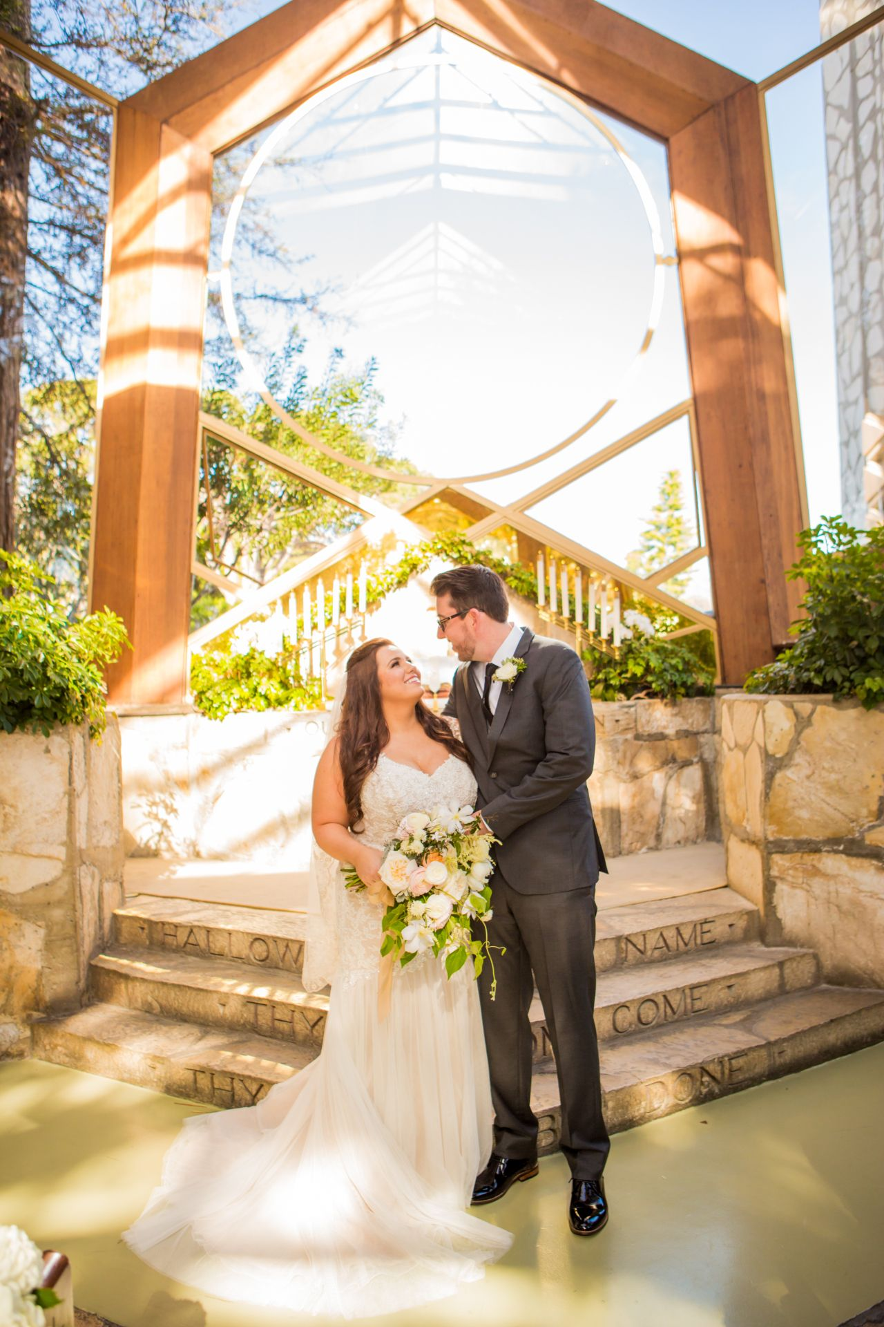 Galina signature wedding dress  Visit livestranded to see our wedding at Wayfarers Chapel in