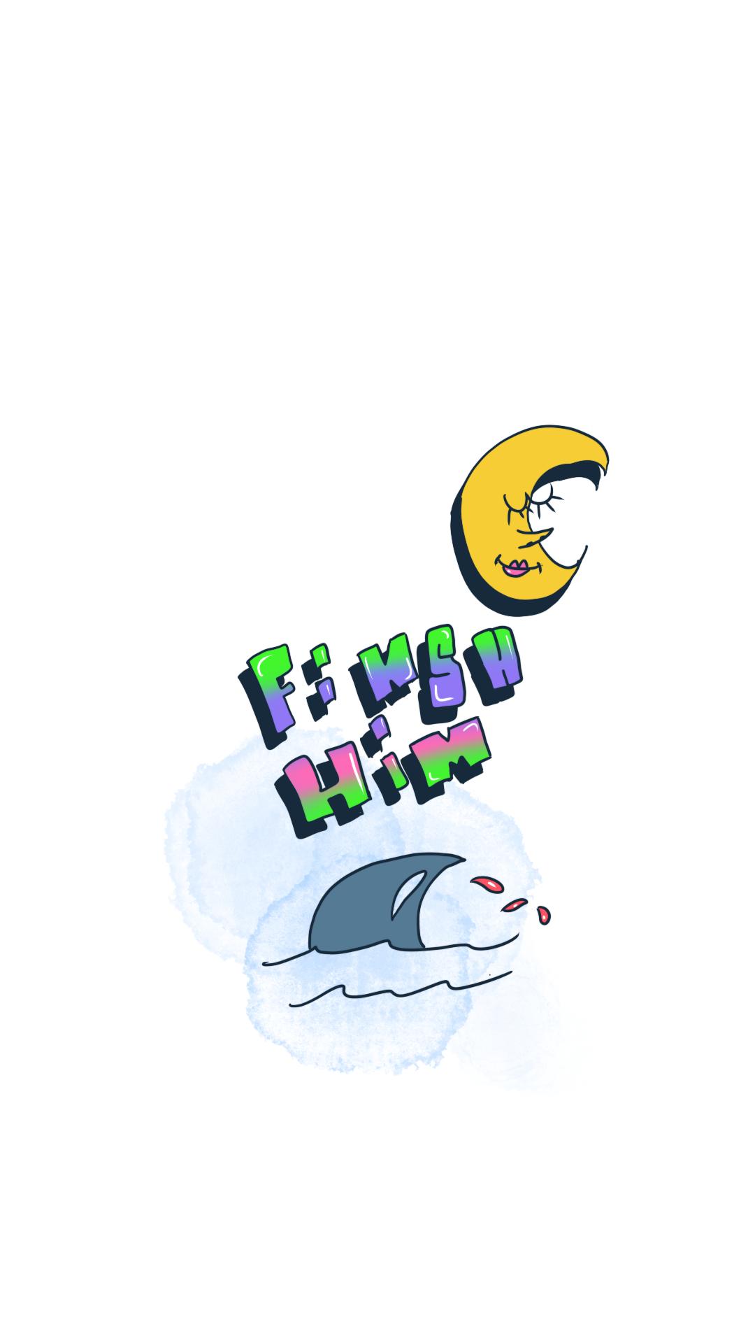Finish Him Shark Fin Phone Wallpaper Android Wallpaper Wallpaper Ios Wallpapers