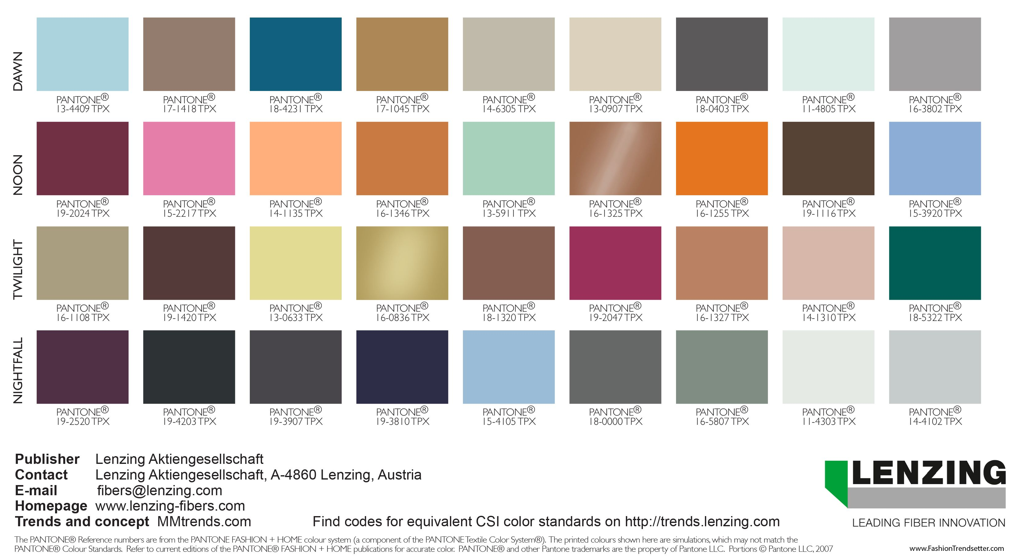 Fall Winter 2020 Color Trends.Lenzing Color Trends Autumn Winter 2019 2020 Color Trends