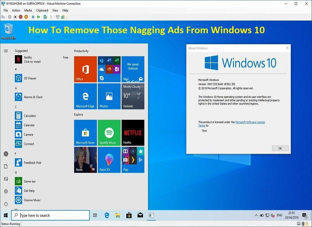 How To Remove Those Nagging Ads From Windows 10 Windows 10