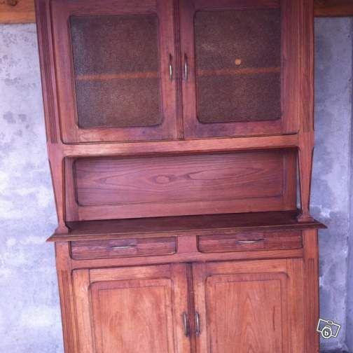 Meuble buffet vaisselier ancien en bois ameublement haute - Vaisselier mural ancien ...