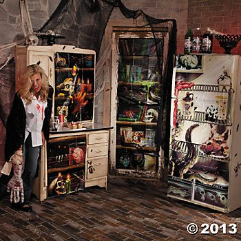 Halloween Creepy Kitchen Decorations HALLOWEEN WALL  WINDOW SCENE - halloween scene setters decorations