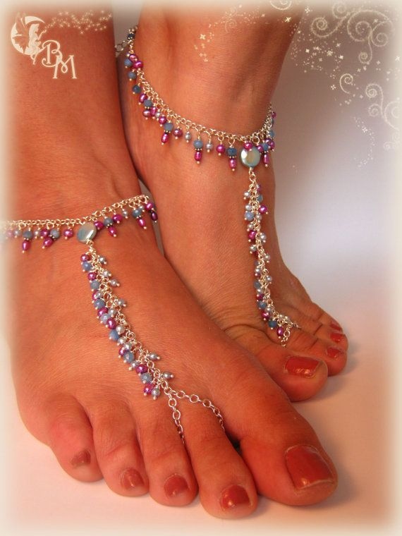 New color combo in these gorgeous barefoot sandals!