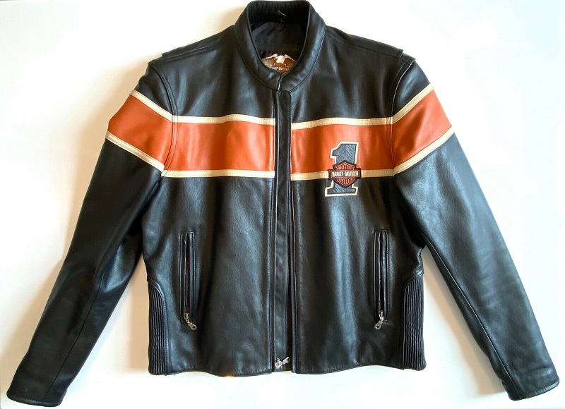 Harley Davidson Victory Lane Black Mens Leather Jacket