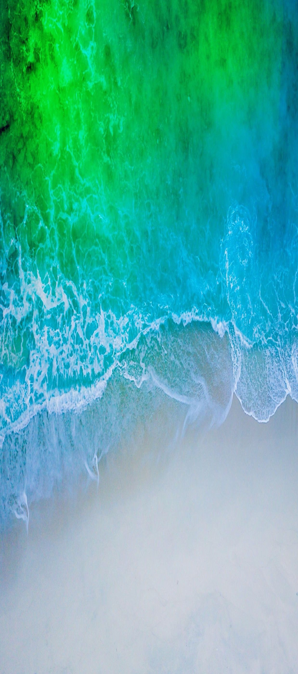 Ios 11 Iphone X Aqua Blue Water Beach Wave Ocean Apple Wallpaper Iphone 8 Clean Beauty Colour Ios Minimal Wallpaper Ponsel Latar Belakang Seni