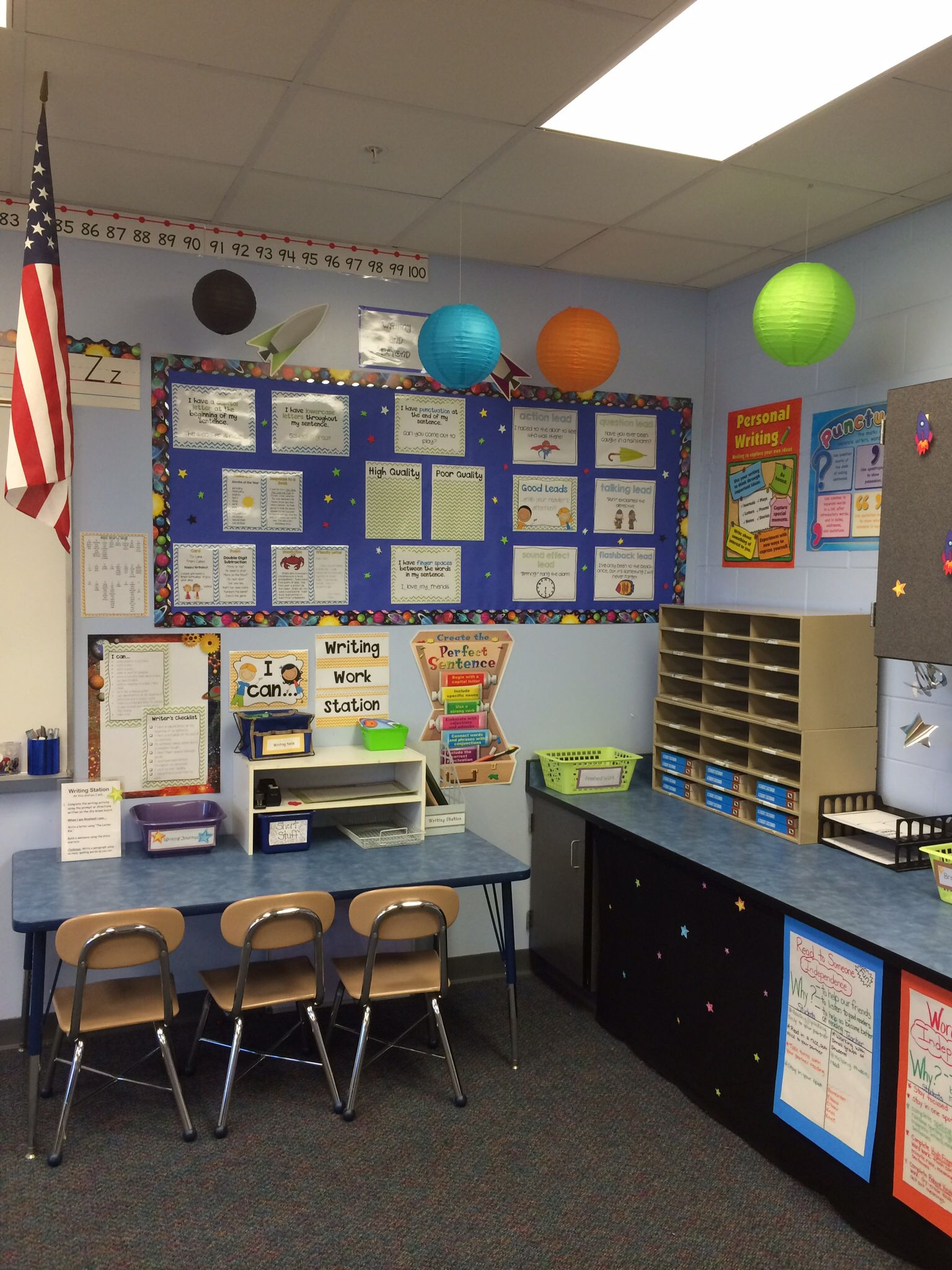 My Outer Space Classroom Writing Station