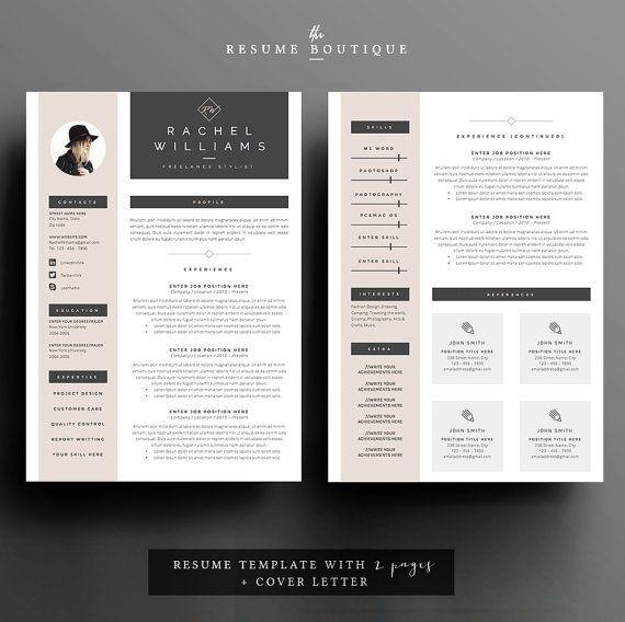 Page Resume  LebenslaufVorlage Cover Von  Resume Concepts