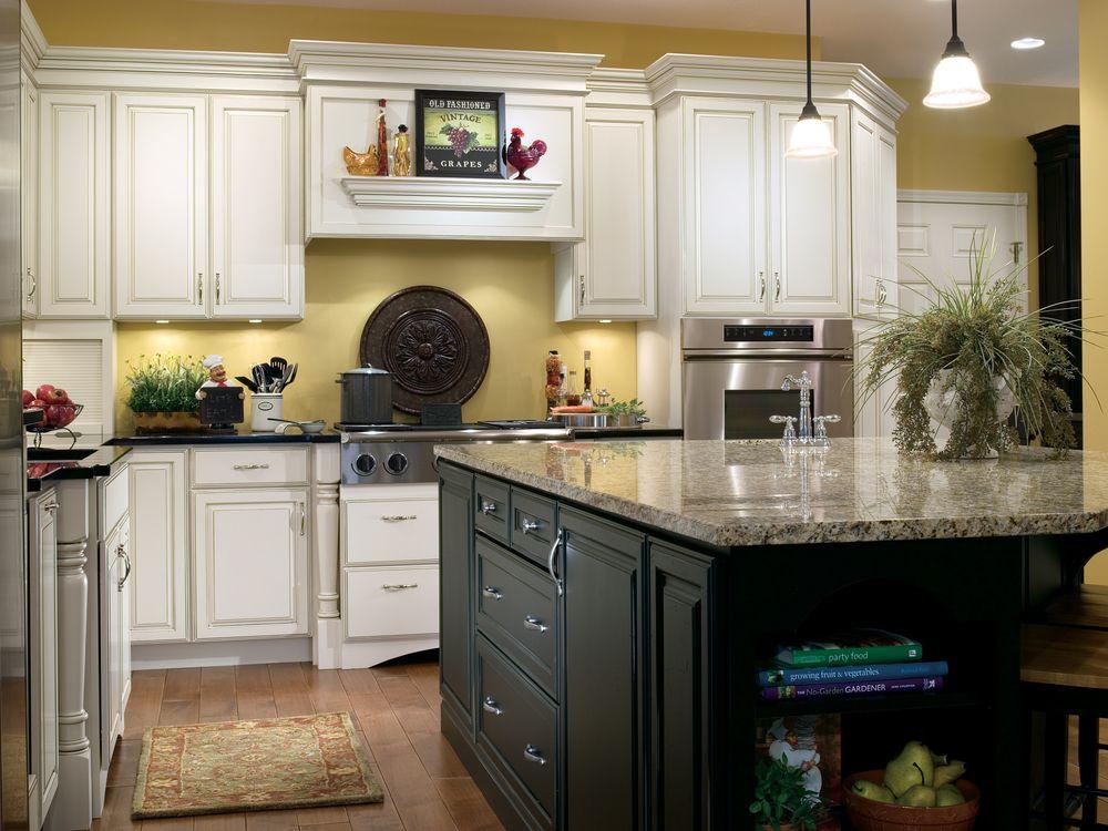 White Gourmet Kitchen | Country kitchen cabinets, Kitchen ...