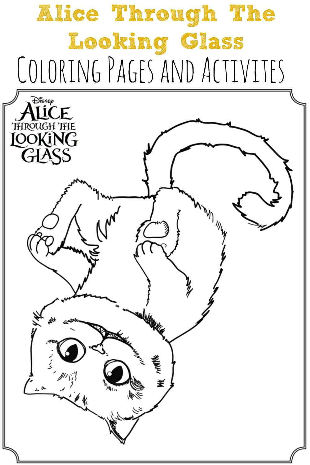 Alice Through The Looking Glass Coloring Sheets | Best of Simply ...