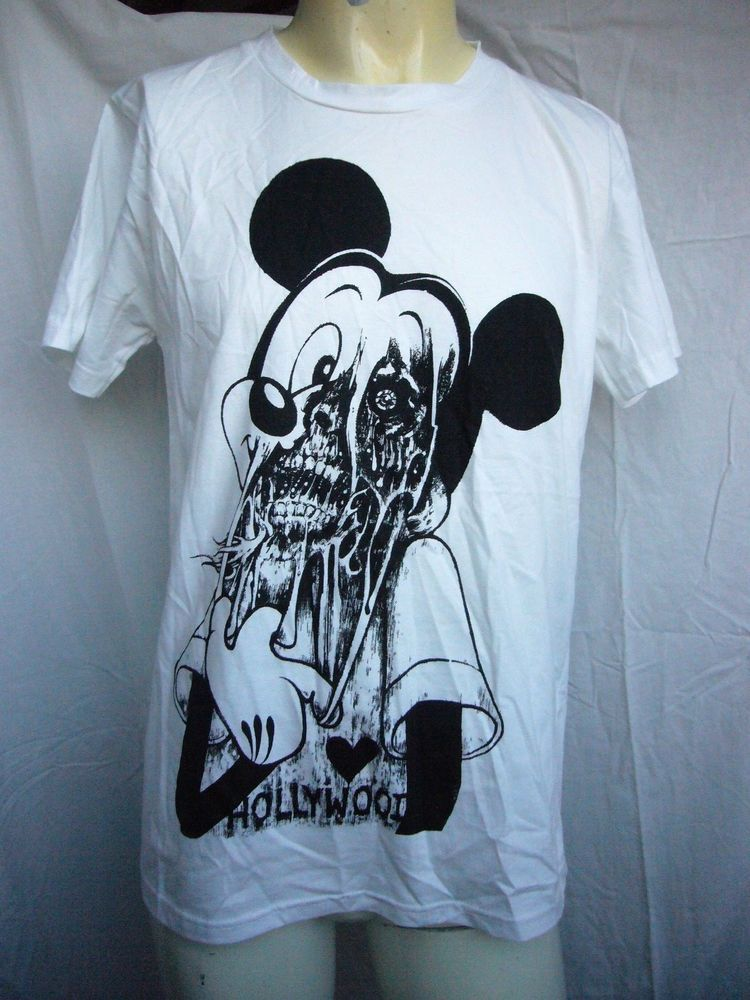 e429447ff Creepy Scary Mickey Mouse White T Shirt Size M Zombie #Unbranded #BasicTee