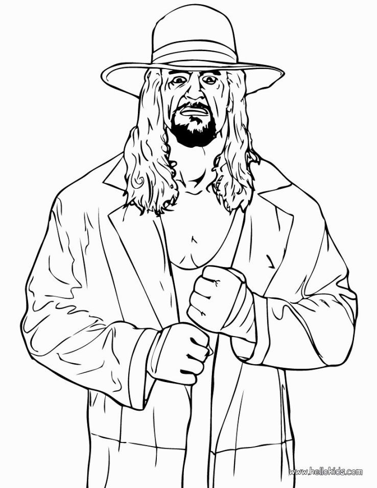 Hulk Hogan Coloring Pages Wwe Coloring Pages Free Coloring Pages Coloring Pages For Kids
