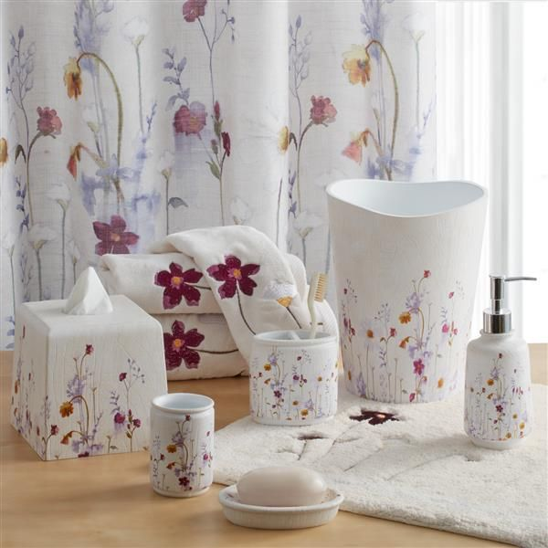 Featuring A Delicate Watercolor Floral The Pressed Flowers Bath