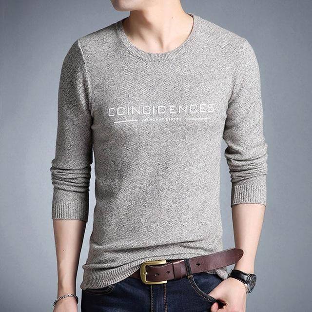 Men's Sweaters Casual Pullover Plus Size Sweaters O-Neck